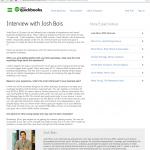 Intuit Quick Books Josh Bois Interview