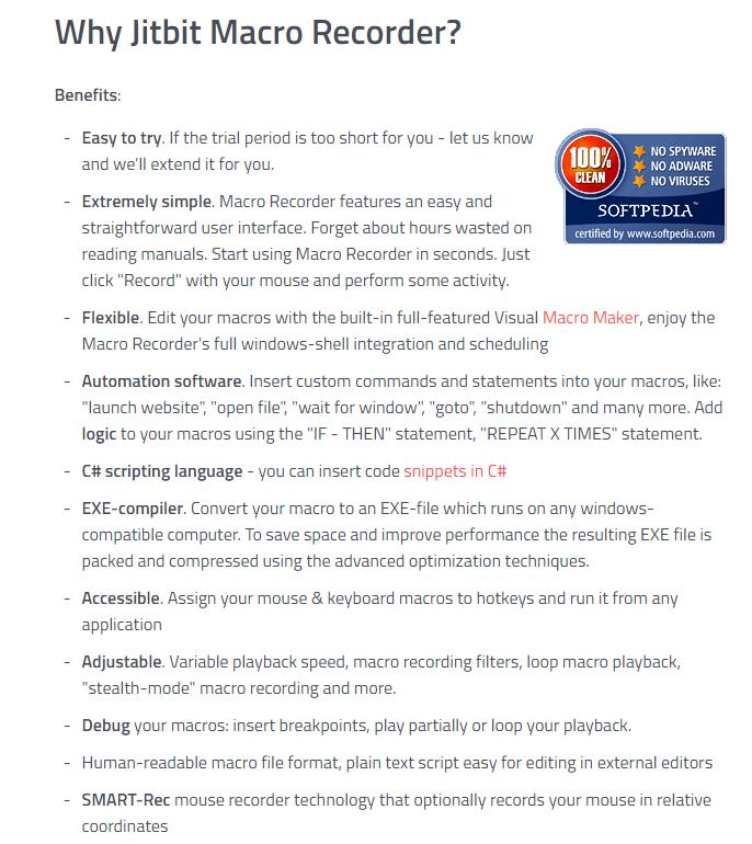 JitBit Macro Recorder - Software Benefits - Josh Bois Global Tasks